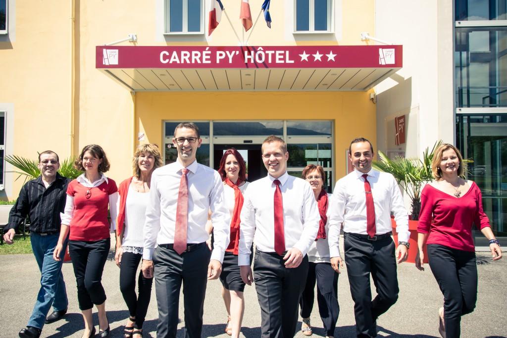 l'équipe du Carré Py' Hôtel