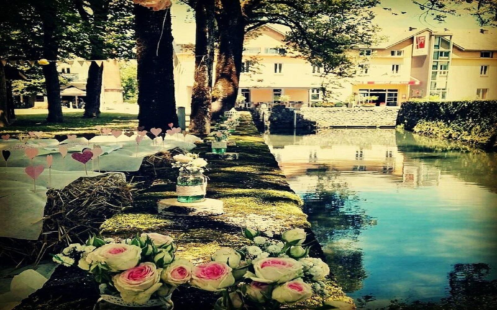Cocktail de mariage près de l'Adour dans les Pyrénées